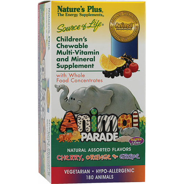 Nature\'s Plus Animal Parade Children\'s Chewable Multivitamins