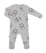 Kushies Side Zip Sleeper Grey Print