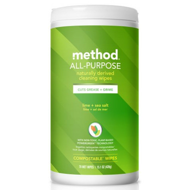 Method All-Purpose Cleaning Wipes Lime + Sea Salt