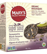 Mary's Organic Crackers Seaweed & Black Sesame Super Seed Crackers