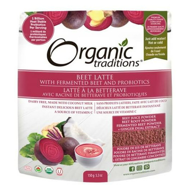 Organic Traditions Beet Latte With Probiotics