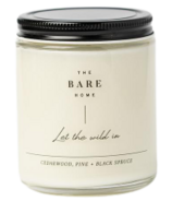 The Bare Home Let The Wild In Candle Cedarwood, Pine, Black Spruce