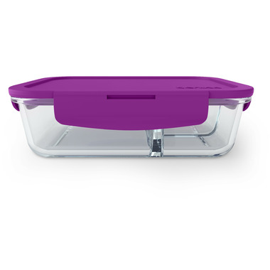 Bentgo Large Glass Container with Leak-Proof Lid Purple