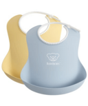 BabyBjorn Baby Bibs Powder Yellow & Powder Blue