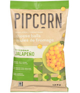 Pipcorn Heirloom Cheese Balls Cheddar Jalapeno