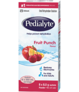 Pedialyte Electrolyte Powder Sticks Oral Rehydration Solution Fruit Punch