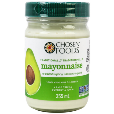 Chosen Foods Traditional 100% Avocado Oil Mayonnaise