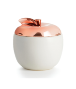 Illume Cider Wood Apple Ceramic Candle