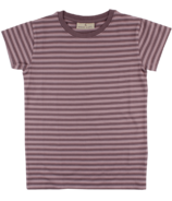 Nordic Label Short Sleeve Stripped T-Shirt Lilac