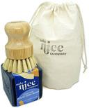 Make Nice Company Dish Soap + Scrubber Kit Charcoal