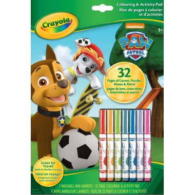 Crayola Paw Patrol Colouring and Activity Pad