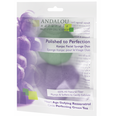 ANDALOU naturals Perfection Konjac Facial Sponge Duo