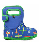 Bogs Baby Waterproof Boots Planes Blue Multi