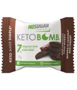 Brownie au fudge au chocolat noir Bombe céto de No Sugar Company