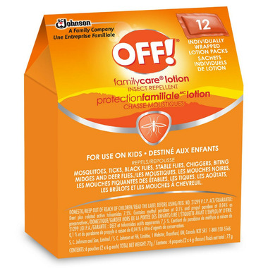 OFF! FamilyCare Insect Repellent Lotion Towelettes for Kids