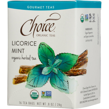 Choice Organic Teas Licorice Mint Tea