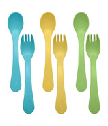 Green Sprouts Sproutware Feeding Fork and Spoon Aqua Set