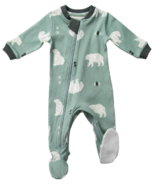 ZippyJamz Organic Cotton Footed Sleeper Be Beary Quiet