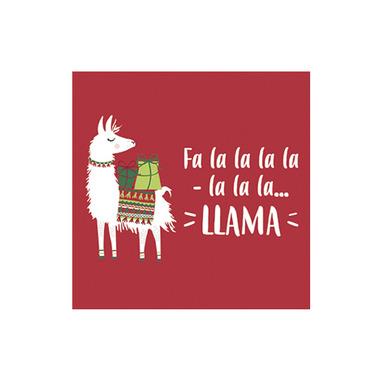 Harman Falala Llama Cocktail Napkin Red