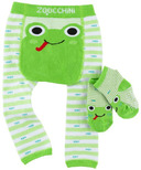 ZOOCCHINI Comfort Crawler Legging & Socks Set Flippy the Frog