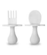 Grabease First Spoon and Fork Set White