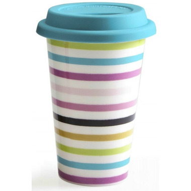 BIA Double-Walled Travel Mug Stripes