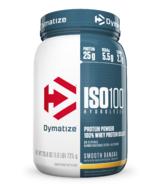 Dymatize ISO100 Hydrolyzed Protein Powder Banana