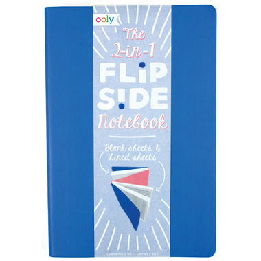OOLY The FlipSide Double Sided Notebook Blue