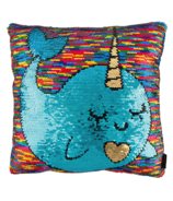 Fashion Angels Magic Sequins Pillow Narwhal