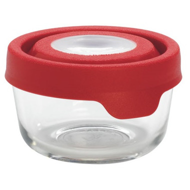 Anchor TrueSeal 1 Cup Round Storage Container with Red Lid