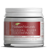 Nelson Naturals Colloidal Silver Remineralizing Toothpaste Cinnamon