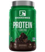Ergogenics Plant Protein + Greens Chocolate Large