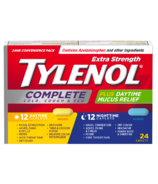Tylenol Extra Strength Complete Cold, Cough & Flu Daytime/Nighttime Caplets