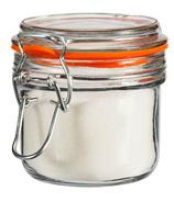 Anchor Hocking Mini Hermes Jar Clamp Top Lid