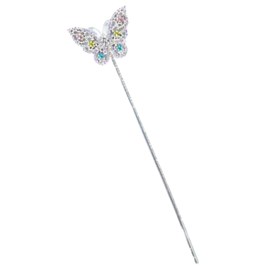 Great Pretenders Butterfly Wand Pink and Lilac Silver