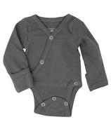L'oved Baby Kimono Bodysuit Organic Gray