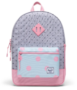 Herschel Supply Heritage Youth Backpack Peony & Grey Polka Dot