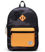 Herschel Supply Heritage Youth XL Backpack Night Camo and Blazing Orange