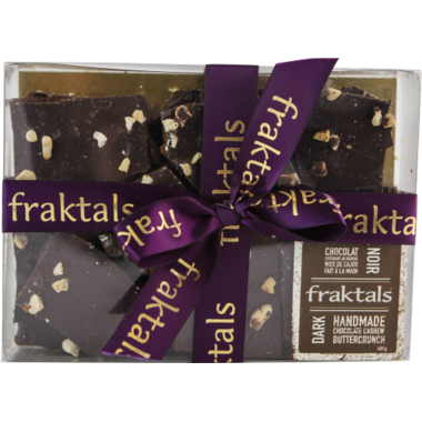 Fraktals Handmade Dark Chocolate Cashew Buttercrunch Gift Box