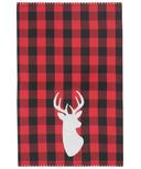 Now Designs Dishtowel Buffalo Check Deer
