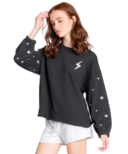 PJ Salvage Daily Doodle Stars Long Sleeve Top Black
