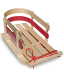 Flexible Flyer Wooden Pull Sled