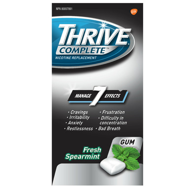 Thrive Complete 2mg Nicotine Replacement Gum Fresh Spearmint