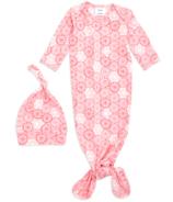 aden+anais Comfort Knit Sunburst Gown + Hat Set 0-3M