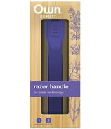 OWN Beauty by Every Man Jack Razor Set Purple including 2 Cartridges