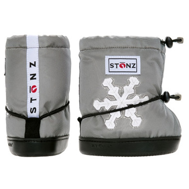Stonz Silver Snowflake Toddler Booties