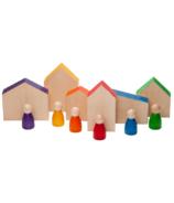Grapat Wood Coloured Houses and Nins