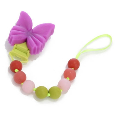 Chewbeads Baby Butterfly Pacifier Clip