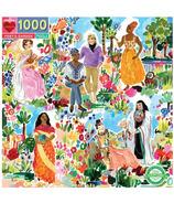 eeBoo Poet's Garden Square Puzzle