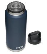 YETI Rambler Bottle + Chug Cap Navy